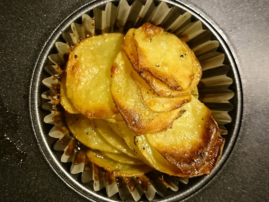 Parmesan-Kartoffel-Stapel