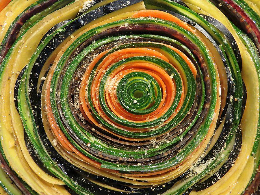Spiralen-Gemüsetarte