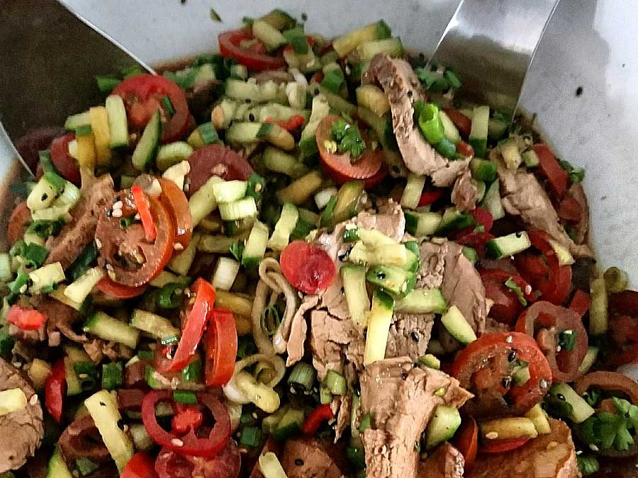 Lammsteak-Salat