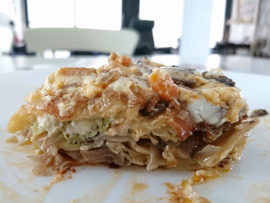 Wirsing-Pilz-Lasagne