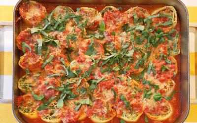 Rotoli di pasta con spinaci e ricotta