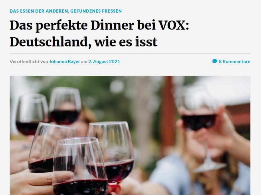"Das ""perfekte"" Dinner"